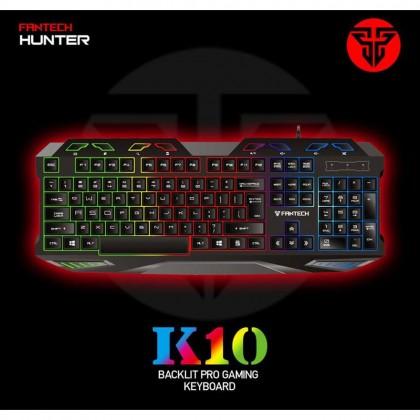 Fantech Hunter K10 USB LED Lighting Metal USB Gaming Keyboard