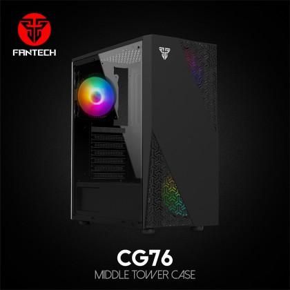 Fantech CG73 Hexa / CG76 (NEW MODEL) Middle Tower Case FREE 4 CASING FAN (SUPPORT ATX / MINI ITX / MICRO ATX)